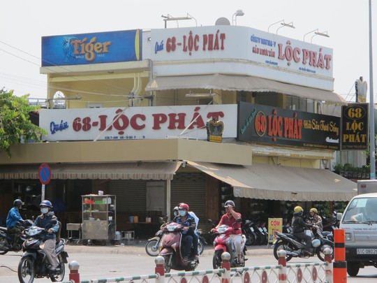Quán ăn Lộc Phát, nơi xảy ra vụ dàn cảnh trộm xe