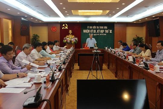 Ủy ban Kiểm tra Trung ương họp kỳ thứ VI - Ảnh: ubkttw.vn