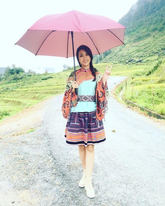 Mỹ Linh quay chương trình quảng bá Sapa trong ngày 10 và 11-9