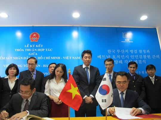 VKSND TP HCM và Viện Công tố Busan-Hàn Quốc ký hợp tác
