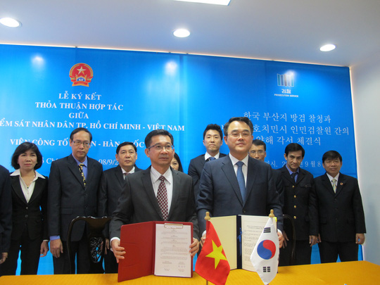 VKSND TP HCM và Viện Công tố Busan ký hợp tác cùng nhau chia sẽ thông tin