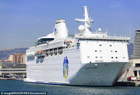 Du thuyền Ocean Gala, nơi ở sắp tới của gần 2000 người tị nạn ở Thụy Điển. Ảnh: REX