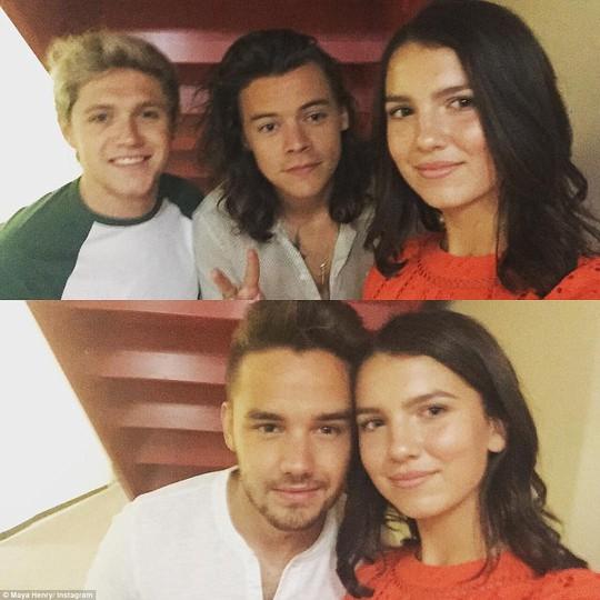 Cùng các thành viên nhóm nhạc nổi tiếng One Direction.