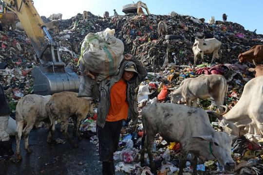 Một bãi rác ở Makassar Ảnh: Dimas Ardia/Bloomberg