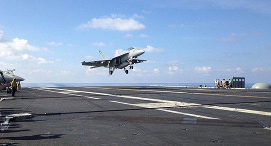 Tháng 5, Mỹ điều tàu chiến lần thứ 3 tiến hành tuần tra tự do hàng hải ở biển Đông. Ảnh: AP