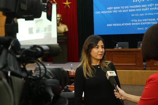 Theo bà Nesli Almufti Hiệp định thương mại EU - Việt Nam sẽ thúc đẩy thương mại, đầu tư và tăng trưởng kinh tế ở cả châu Âu và Việt Nam trong thời gian tới. Ảnh do BTC cung cấp
