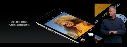 Camera trước được nâng cấp từ 5MP lên 7MP với góc chụp rộng hơn.