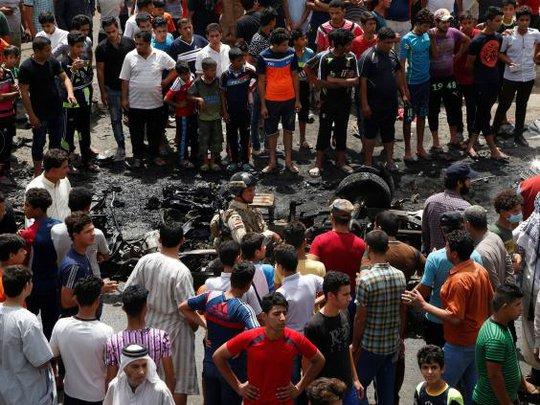 Vụ nổ nhằm vào khu vực tập trung nhiều người Shiite. Ảnh: Reuters