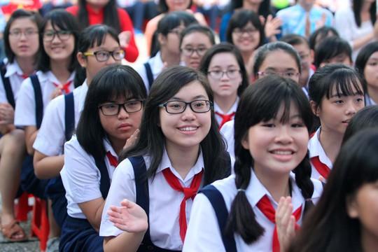 Học sinh Trường Lương Thế Vinh háo hức với năm học mới