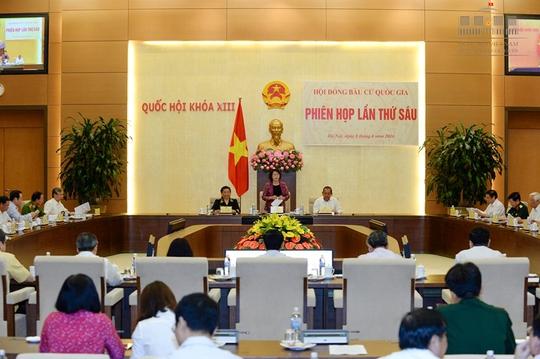 Chủ tịch QH Nguyễn Thị Kim Ngân, Chủ tịch Hội đồng bầu cử Quốc gia chủ trì phiên họp