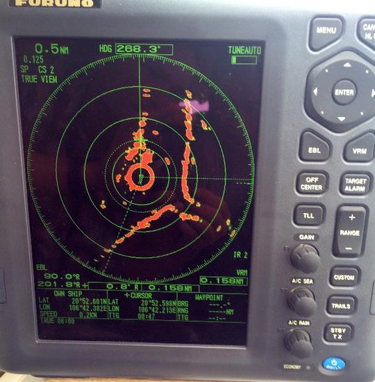 Màn hình radar thiết bị tìm kiếm hộp đen