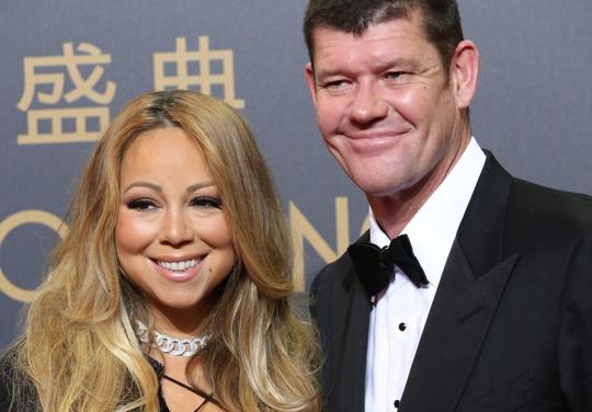 Mariah Carey và tỉ phú James Packer. Ảnh: AP