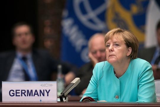 Thủ tướng Đức Angela Merkel tại Hội nghị G20 ở Hàng Châu-Trung Quốc hôm 4-9. Ảnh: REUTERS