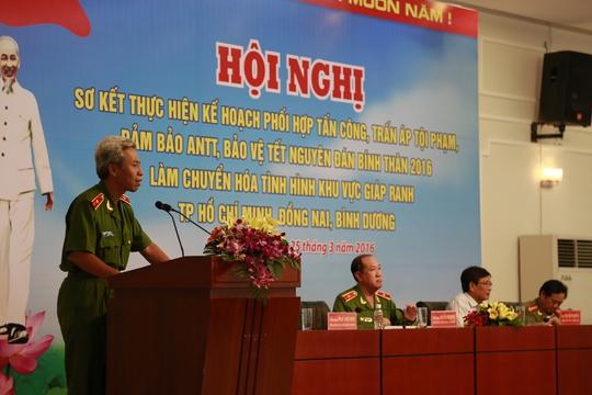 Thiếu tướng Phan Anh Minh phát biểu sáng nay