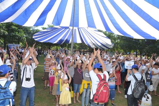Concept Smurf Day cho ngày hội gia đình Ảnh: Beevent