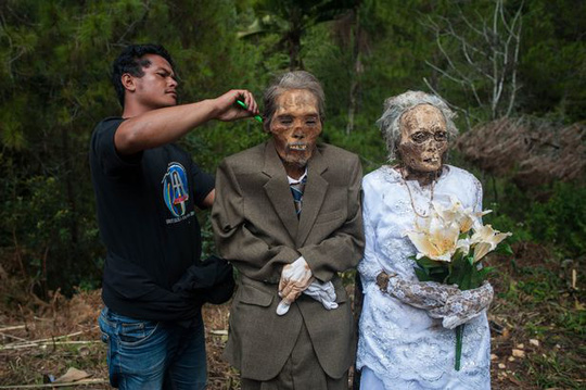 Với người Toraja, chết chưa phải là dấu chấm hết. Ảnh: Barcroft Media