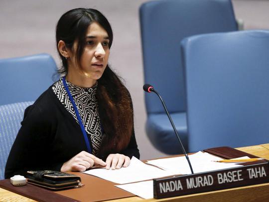 Đại sứ thiện chí mới của LHQ, cô Nadia Murad. Ảnh: Reuters