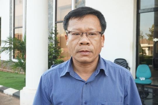 Ông Nguyễn Thái Sinh, Chánh Thanh tra Sở TNMT trao đổi với phóng viên về vụ việc