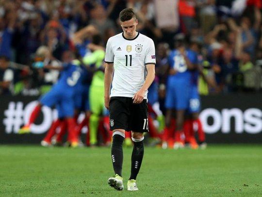Draxler thất vọng sau trận thua Pháp