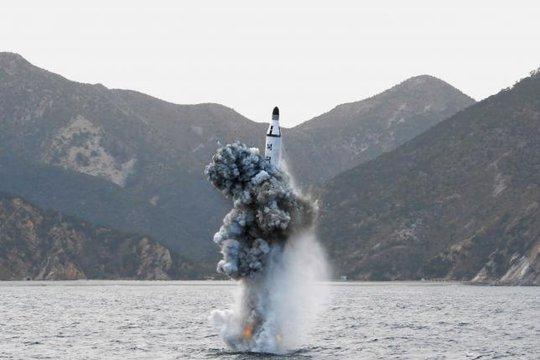 Một vụ phóng tên lửa gần đây của Triều Tiên. Ảnh: Reuters