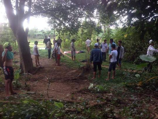 Hiện trường nơi nạn nhân tử vong sau vụ đuối nước