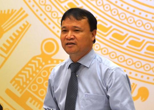 Người phát ngôn của Bộ Công Thương, Thứ trưởng Đỗ Thắng Hải, trao đổi với báo chí - Ảnh: Nguyễn Hưởng