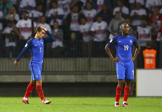 Pháp ngỡ ngàng khi để Belarus cầm hòa 0-0 trong trận mở màn vòng loại World Cup 2018