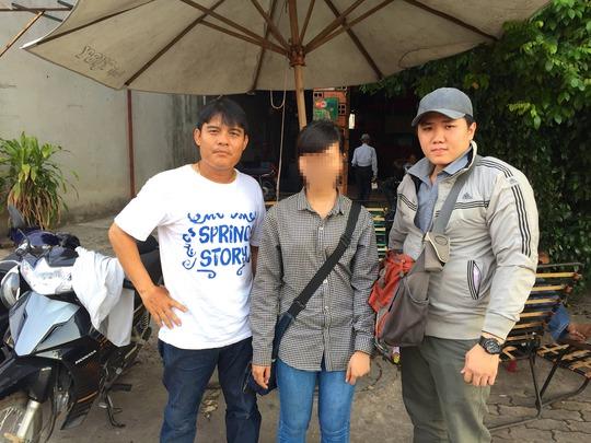 """T.A (SN 1996, quê Long An) bị """"bán"""" vào quán cà phê """"chòi"""" ở phường Tân Đông Hiệp với giá 1,5 triệu đồng và được giải cứu vào tháng 5-2015"""