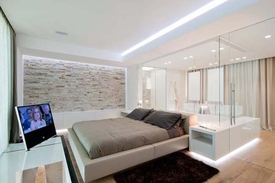 Rất nhiều gia chủ rất thích kiểu thiết kế phòng ngủ và phòng vệ sinh chung với nhau