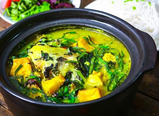 Mê mẩn món cá lăng om chuối đậu