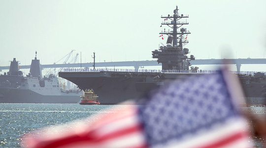 Lâu nay, Úc vẫn ủng hộ các cuộc tuần tra vì tự do hàng hải mà quân đội Mỹ tiến hành trên biển Đông. Ảnh: REUTERS