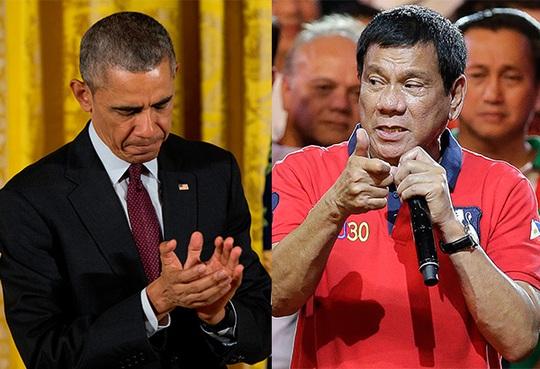 Tổng thống Mỹ Barack Obama (trái) và người đồng cấp Philippines Rodrigo Duterte Ảnh: PHILSTAR