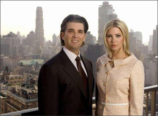 Con gái và con trai ông Trump là Ivanka Trump, Donald Trump Jr. Ảnh: AP