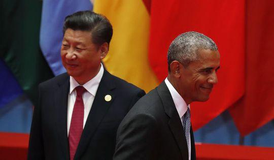 Chủ tịch Tập Cận Bình và Tổng thống Barack Obama (phải) Ảnh: AP