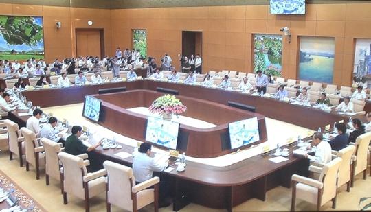 Toàn cảnh phiên họp thứ 5 của Hội đồng bảo cử Quốc gia - Ảnh chụp qua màn hình
