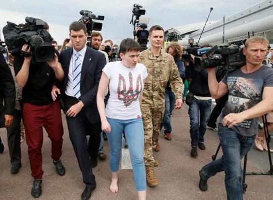 Nữ phi công Nadiya Savchenko. Ảnh: Reuters