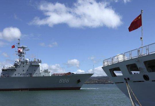 Trung Quốc trong cuộc tập trận vành đai Thái Bình Dương (RIMPAC) năm 2014. Ảnh: Reuters