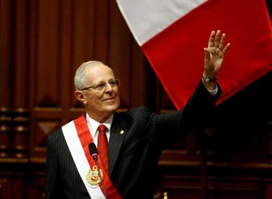 Tổng thống Peru Pablo Kuczynski. Ảnh: REUTERS