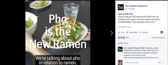Đoạn video còn gây sốc khi gọi Phở là món mì ramen mới (một loại mì của Nhật Bản). Ảnh: Nextshark