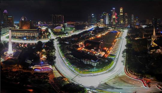 Cung đường đua đêm của giải đua xe Công thức 1 trong mùa Grand Prix tại Singapore