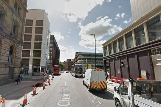 Đường Chorlton - nơi người đàn ông khỏa thân mộng du được phát hiện đi lang thang. Ảnh: Guardian