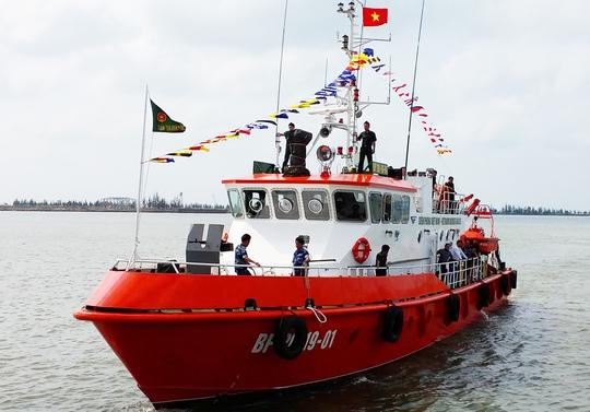 Tàu BP 29 19-01 được đóng trong nước.