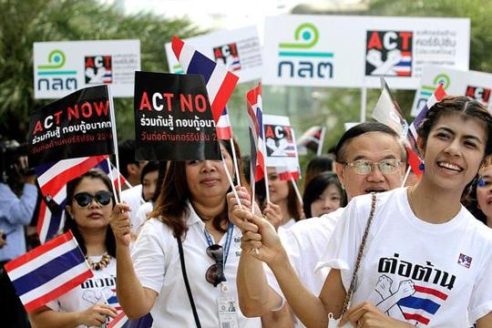 Một cuộc tuần hành chống tham nhũng tại Thái Lan Ảnh: CHIANGRAI TIMES