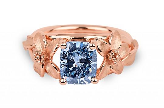 Chiếc nhẫn kim cương xanh Jane Seymour độc nhất vô nhị. Ảnh: Forbes