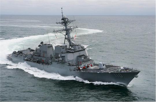 Tàu khu trục tên lửa dẫn đường USS William P. LawrenceẢnh: navsource.org