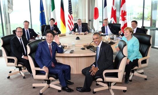 Các nhà lãnh đạo G7 tại Nhật Bản hôm 26-5 Ảnh: REUTERS