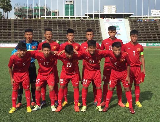 Nhiều cầu thủ trong đội hình chính của U16 Việt Nam sẽ được dưỡng sức chờ vòng bán kết.Ảnh: Mộc Nghênh