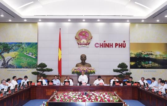 Phiên họp Chính phủ thường kỳ tháng 4-2016. Ảnh: Đức Hiếu