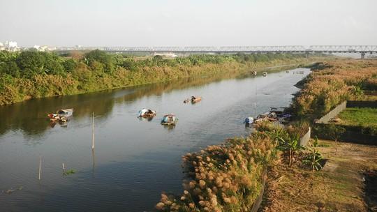 Sông Hồng đoạn nhìn từ cầu Long Biên (Hà Nội)Ảnh: Dương Tú