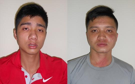 2 nghi phạm Phạm Văn Cường và Vũ Văn Thăng...